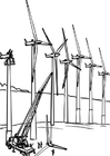 Bilde å fargelegge vindkraftverk