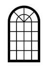 Bilde å fargelegge vindu