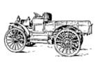 Bilde å fargelegge vogn