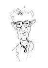 Bilde å fargelegge Woody Allen