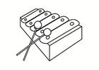 Bilde å fargelegge xylofon