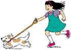 bilde å gå tur med hunden