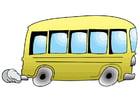 bilde å kjøre en buss