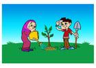 bilde å plante et tre