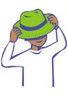 bilde å ta på en hatt