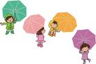 bilde barn med paraply