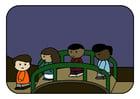 bilde barn på bro