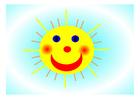 bilde en glad sol