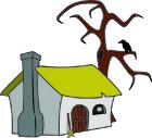 bilde en heks hus