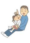bilde far og datter