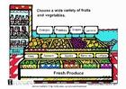 bilde ferske grønnsaker og frukt