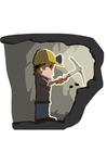 bilde gruvearbeider