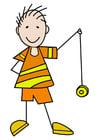 bilde gutt med en jojo