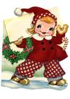 bilde jente i juledrakt