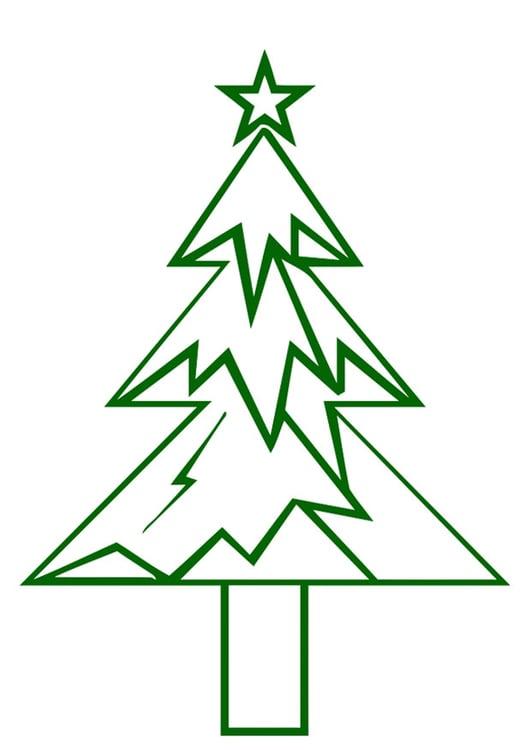 Groovy Bilde juletre med julestjerne - bil 20394 Images AA-87