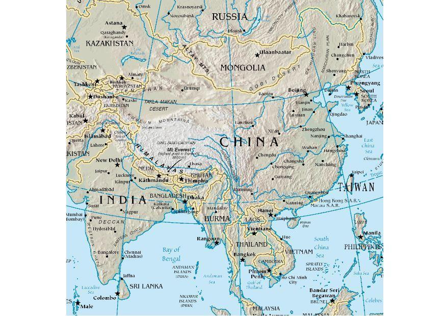 kart over kina Bilde kart over Kina   bil 7453 kart over kina