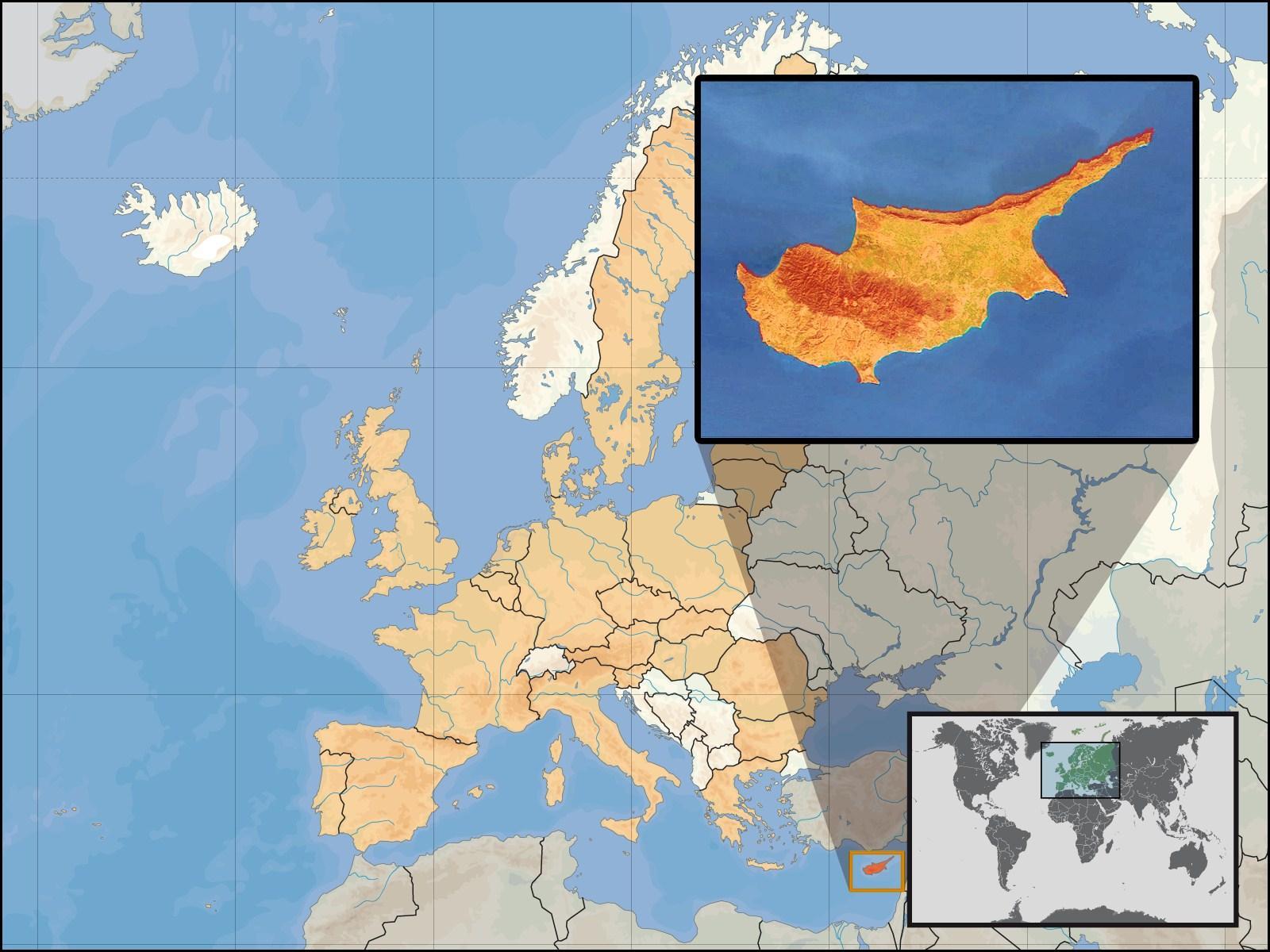 kypros kart Bilde Kypros   bil 17509 kypros kart