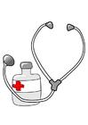 bilde medisin og stetoskop