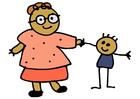 bilde mor og barn