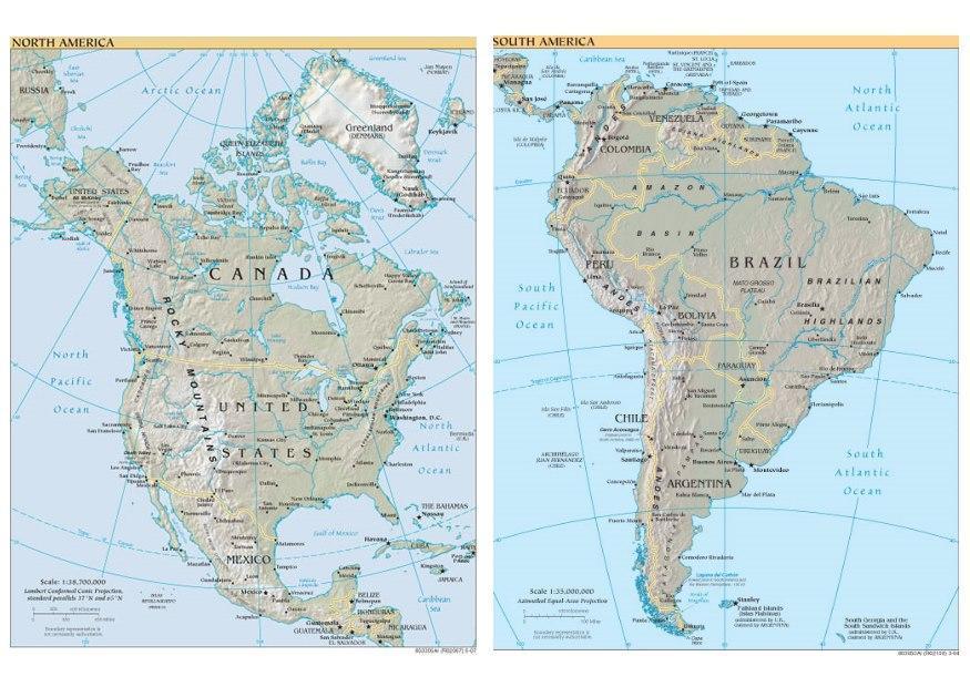 nord og sør amerika kart Bilde Nord  og Sør Amerika   bil 8119 nord og sør amerika kart