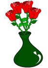 bilde roser i en vase