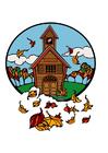 bilde skole på høsten