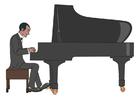 bilde spille piano