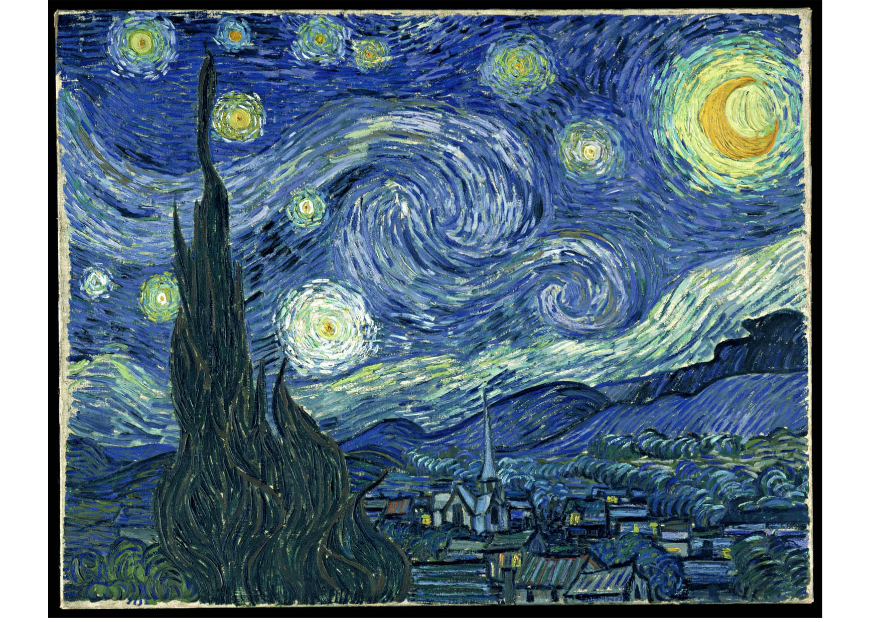 bilde starry night vincent van gogh bil 14768. Black Bedroom Furniture Sets. Home Design Ideas