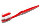 bilde tannbørste med tannkrem