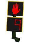 bilde trafikklys for fotgjengere