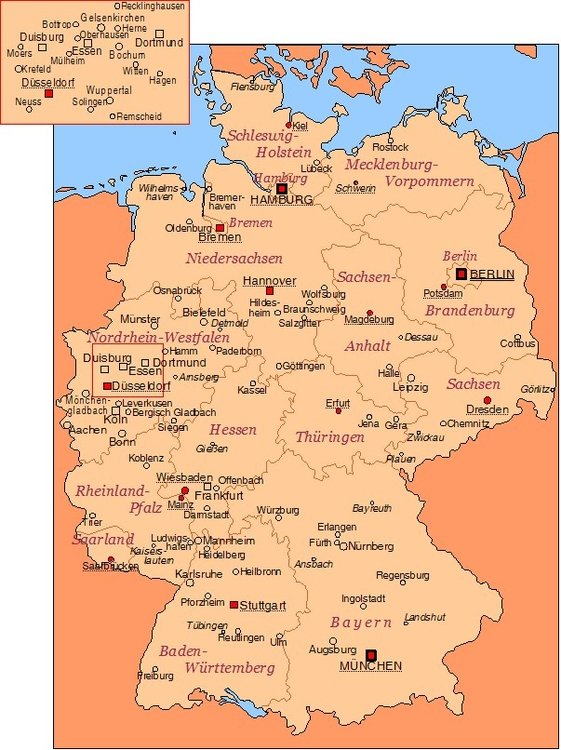 tyskland kart byer Bilde Tyskland   byer   bil 16844 tyskland kart byer