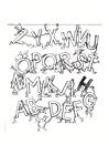 Bilde å fargelegge alfabet
