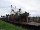 Foto båt på tørrdokk