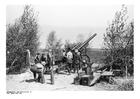 Foto soldater lader kanoner - Frankrike