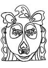 håndverk for barn drage maske