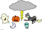 håndverk for barn Halloween mobil
