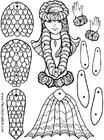 håndverk for barn havfrue papirdukke